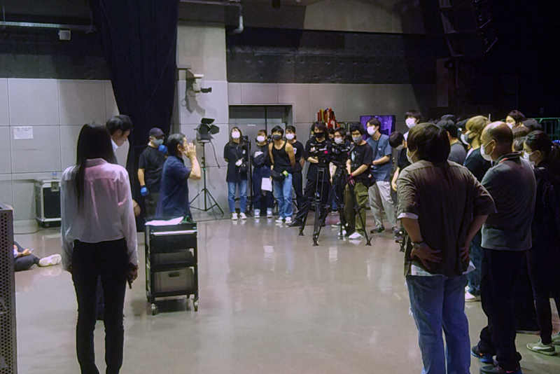 Yoji Tanaka of actor visits a school, too! We met professional performer and carried out shooting practice!